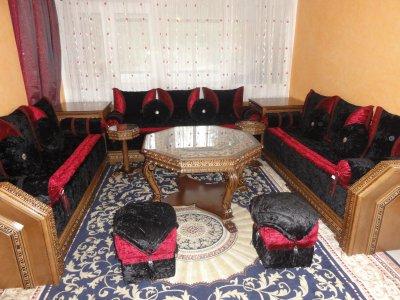 Salon Marocain Rouge Et Noir