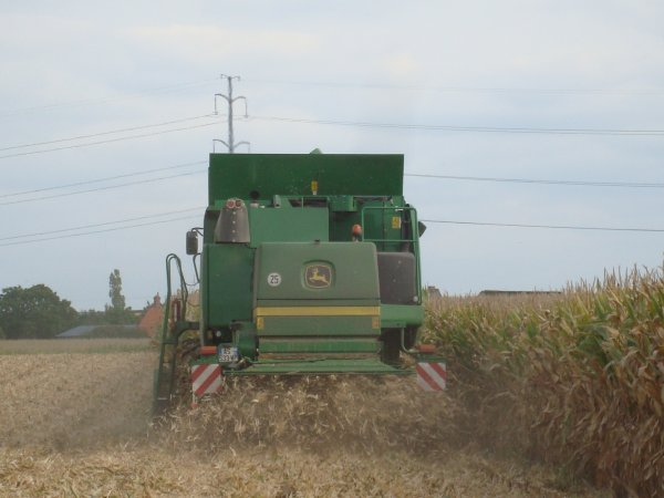 Moisson de maïs chez un ami dans le 45 2010