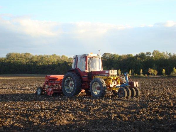 Semis de blé chez un pote 2010