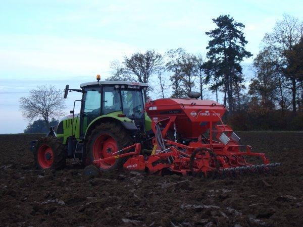 Semis de blé dur dans le 45 2010