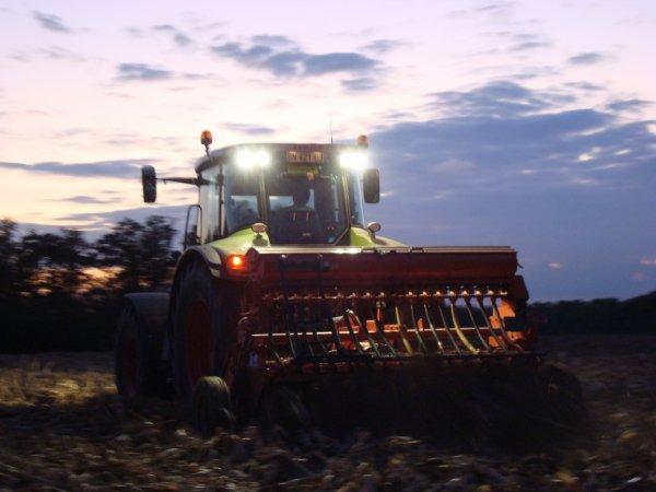 Semis de blé tendre dans le 45 2011