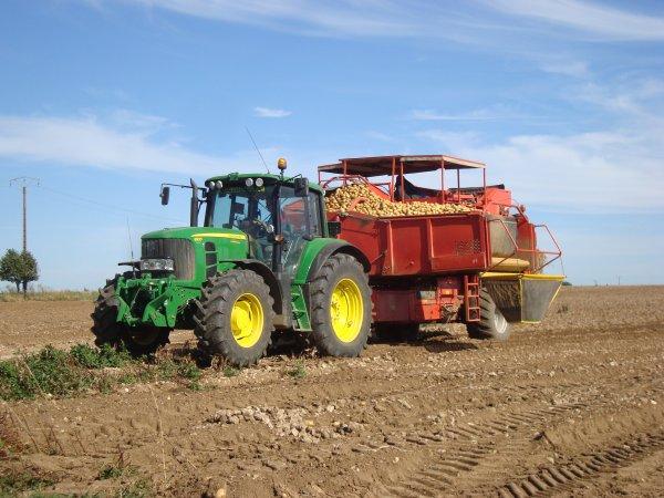 Arrachage de pomme de terre 2012 dans le 45