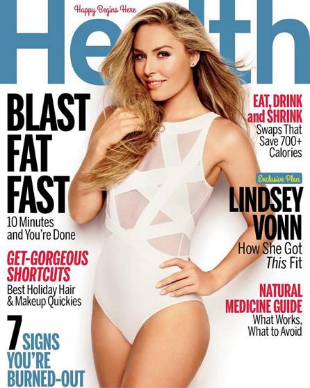 "Lindsey en couverture du ""Health Magazine""!!!"