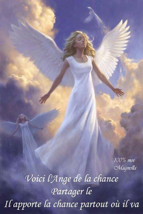 Que cet ange te porte chance.