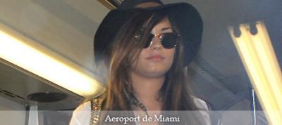 Arrivée à l'aéroport de Miami (26/07/11)