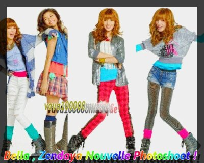 Photoshoot Bella et Zendaya pour Shake It Up saison 2, j'adore!
