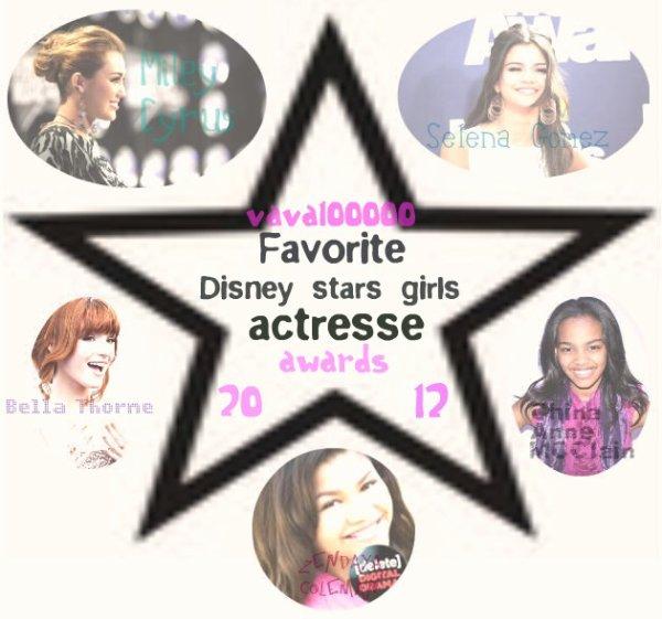 """Salut tout le monde! Bienvenue dans les : """"vava100000 Awards 2012""""! Je posterai une catégorie tout les jours/tout les 2 jours! Il y aura plus de 5 catégories! C'est vous, et seulement VOUS qui voté! Voici la première partie: """"Favorite Disney stars girls actresse 2012"""".Il vous suffit de dire pour qui vous voté, et le tour est joué! Allez, je vous laisse! A demain pour la publication de la prochaine catégorie!!!;)"""