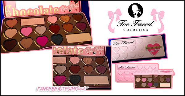 .  → ● ● Catégorie MakeUp : La Palette de Too Faced chocolate bar bonbons ● ● . .