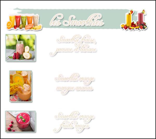 .  → ● ● Catégorie Capsule Santé : les Soothies bon pour son apport de fruits & Légume . .