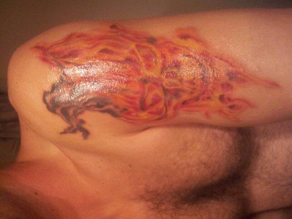 et voila le deuxieme tatouage
