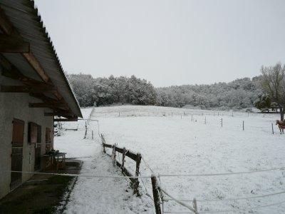 la neige arrive tôt cette année