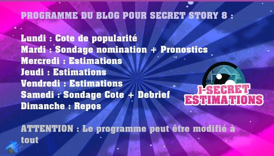 BIENVENUE SUR J-SECRET ESTIMATIONS, TON BLOG SOURCE SECRET STORY!