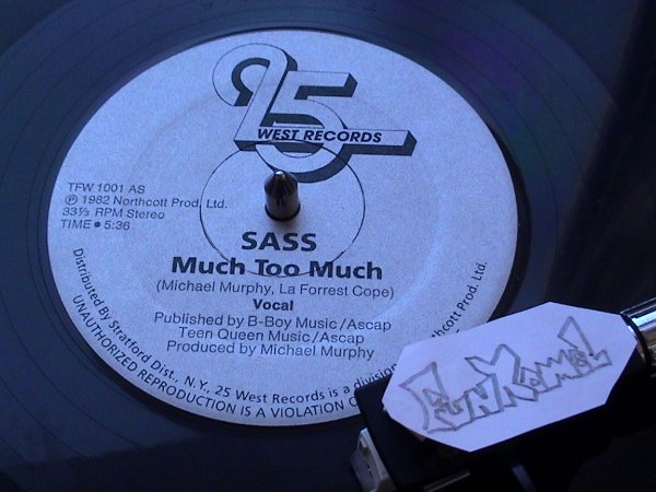 "‌SASS ""much too much""  Original 12"" ......TERRIBLE!!!!!!!"