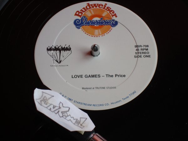 """THE PRICE """"love games"""" 12""""...Budweiser..........TERRIBLE!"""