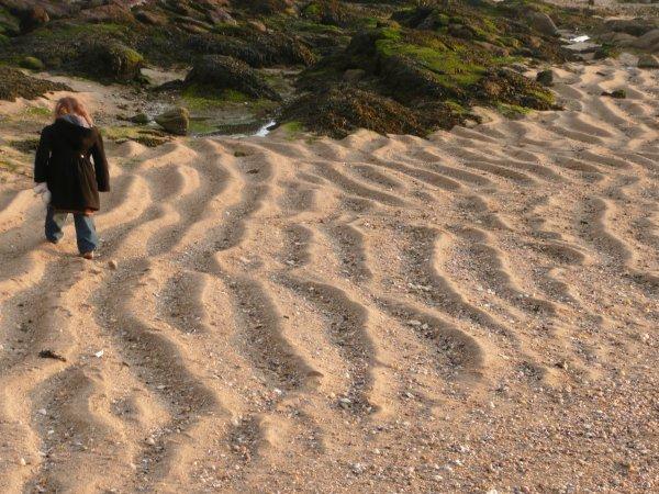 Promenade sur le sable...