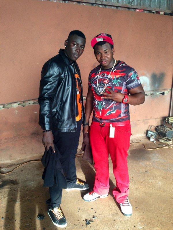 """Vk mes Bro Sonike Et Digalo , tournage  du clip """"Dieu du Rap """" b1to dans Les"""