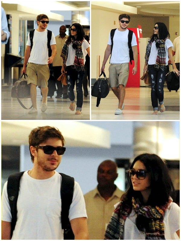 CANDID Vanessa et Zac ont été repérés à l'aéroport partant pour une destination encore inconnu, le 19/08/2010