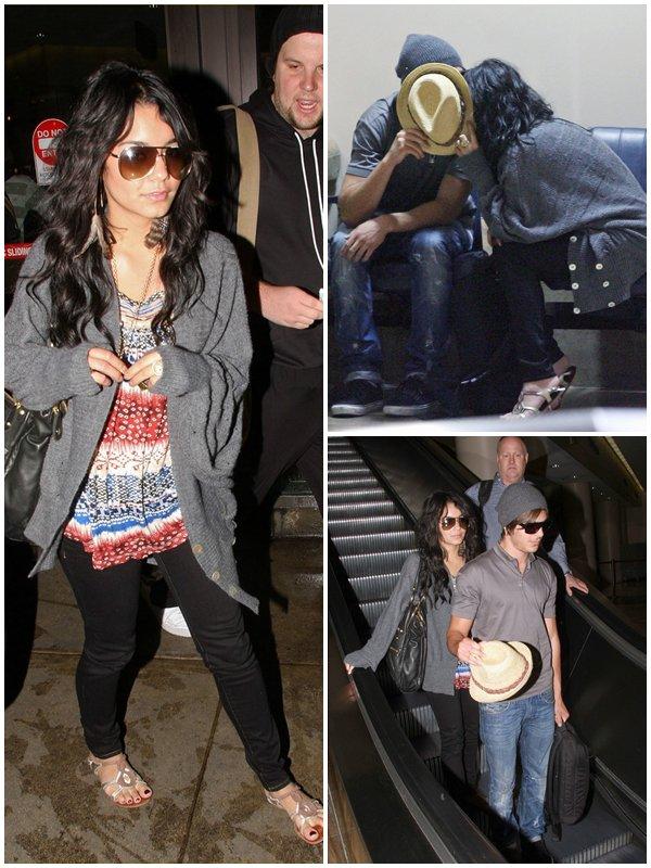 Zanessa ont été vu à l'aéroport de Rio en partance pour Los Angeles et ensuite arrivant à Los Angeles (08/02/2009)