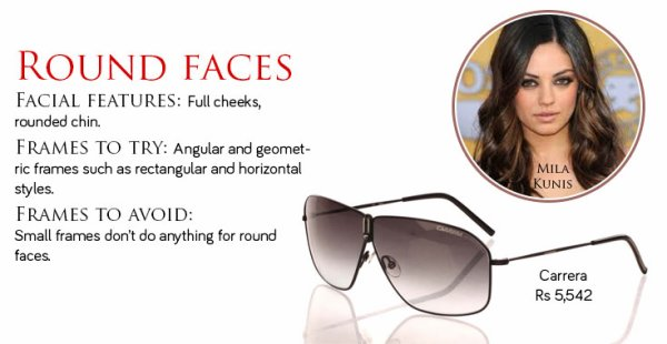 find the best sunglasses for round face shape
