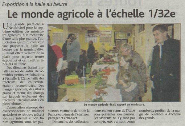 Article du journal Le Réveil à propos de l'expo AGRIMINI 2012