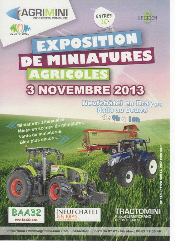 Exposition de miniatures agricoles AGRIMINI 2013