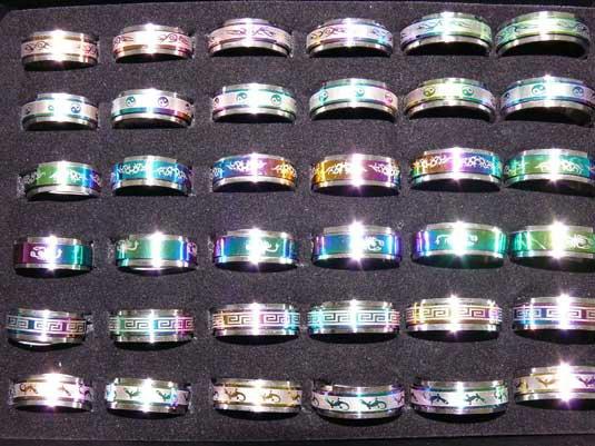Bagues Anti-stresse avec anneaux tournant