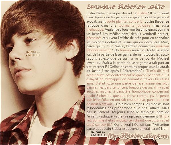 Justin au coeur d'un scandale médiatique et Judiciaire