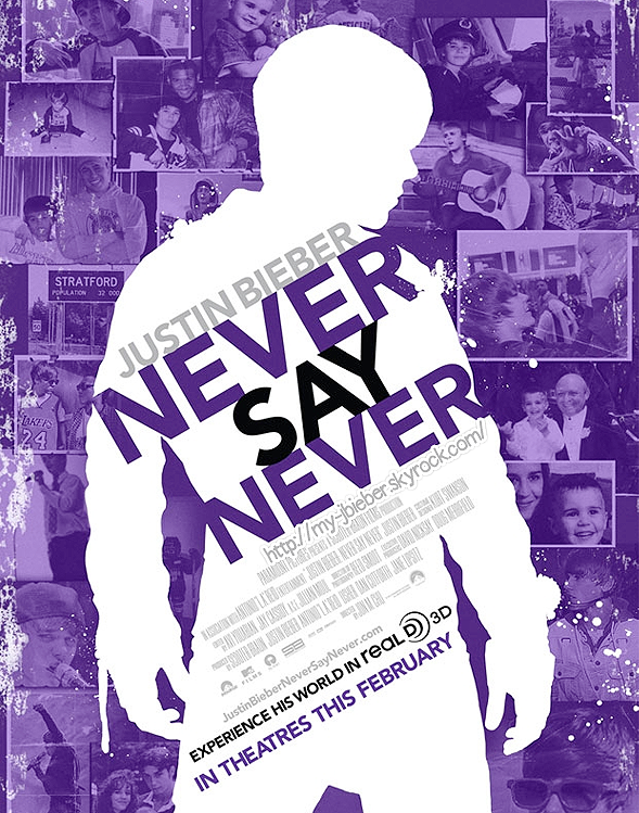 Nouvelle affiche NEVER SAY NEVER + Photos CDC des AMA :)