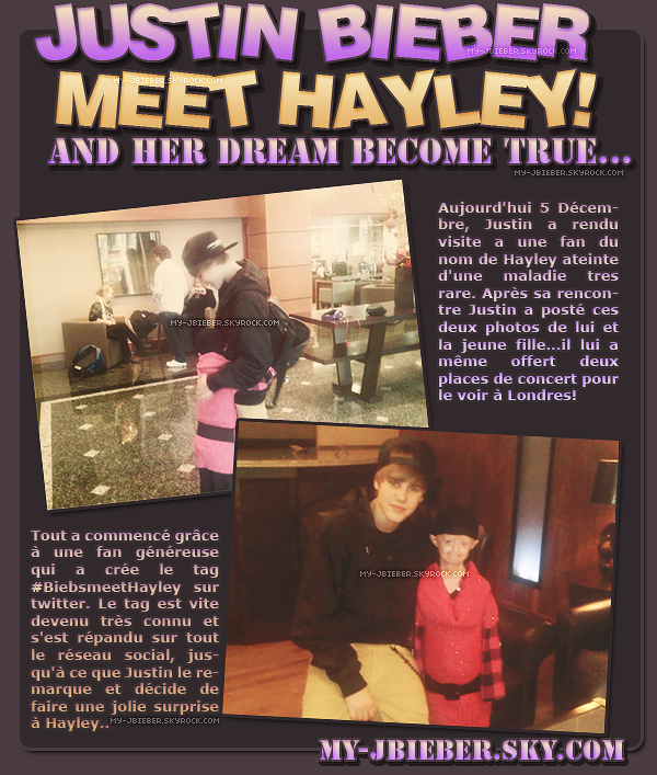 Justin meet Hayley | 05.12.2010