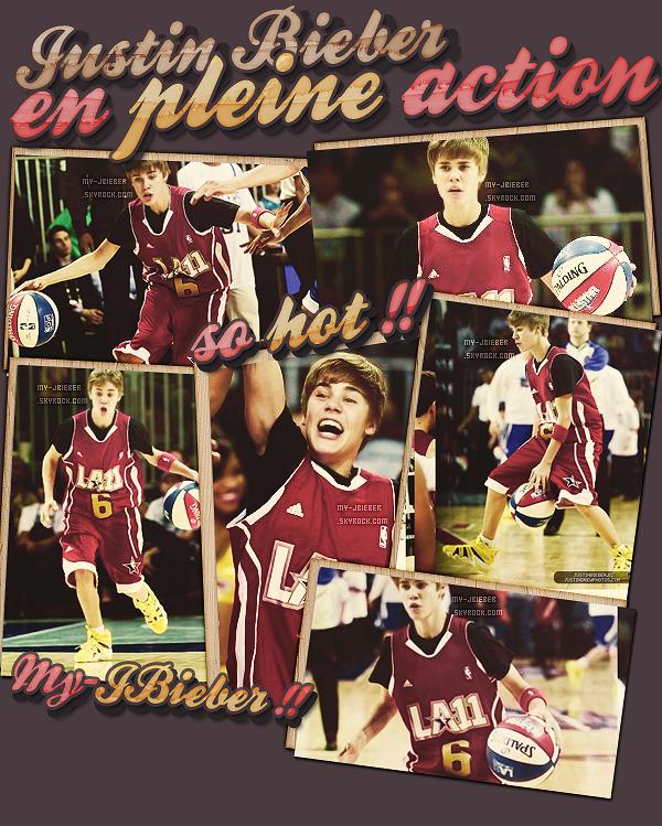 18.02.2011 | Justin au Match de la NBA.