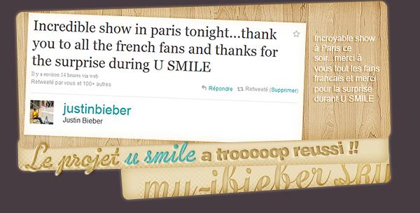 Concert de Justin à Paris.