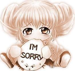 Désolée!