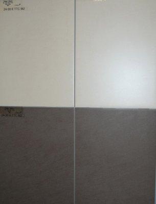 Choix de la fa ence de la salle de bain construction de for Carrelage deux couleurs