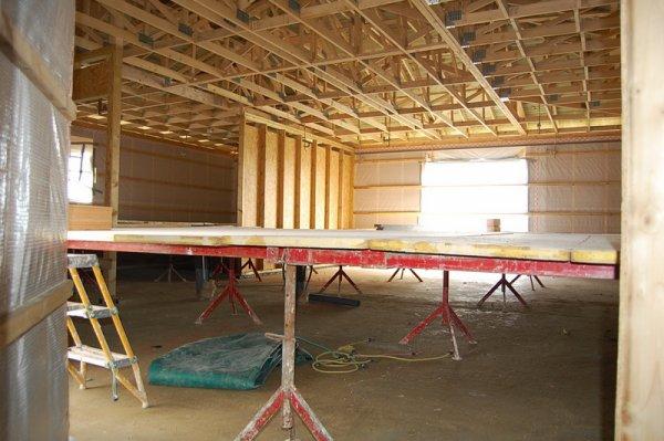 jour 8 pr 233 paration pour la pose du plafond construction de ma maison en bois