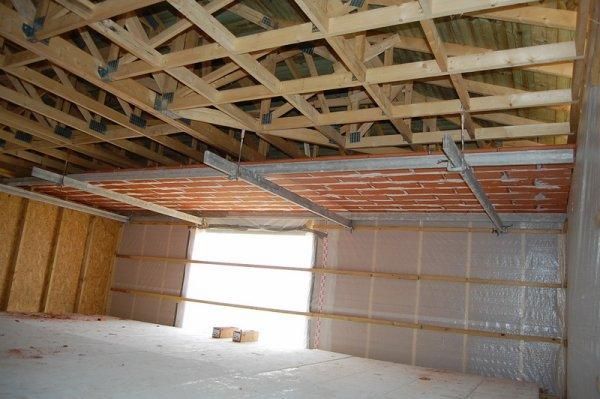 Jour 9 d but du plafond en brique construction de ma for Construction maison brique ou parpaing