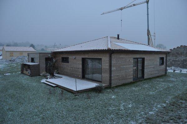 peu de neige pour le moment chez nous