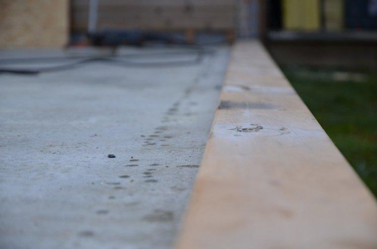 pose de lisse + création des murs et pose
