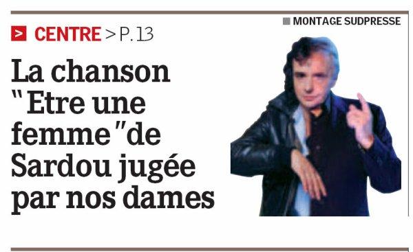 2 septembre 2010 - La une de LA NOUVELLE GAZETTE DU CENTRE (presse belge)