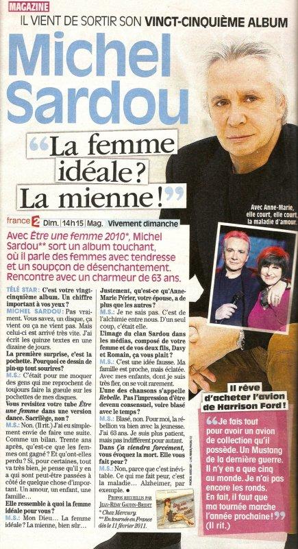 6 septembre 2010 - Article paru dans TELE STAR