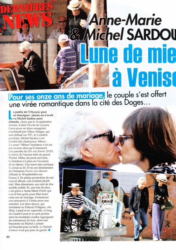 28 septembre 2010 - Article paru dans ICI PARIS