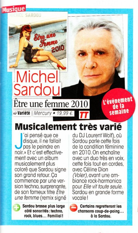 18 septembre 2010 - Article paru dans TELE STAR