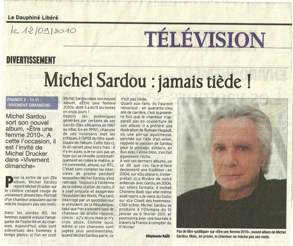 12 septembre 2010 - Article paru dans LE DAUPHINE LIBERE