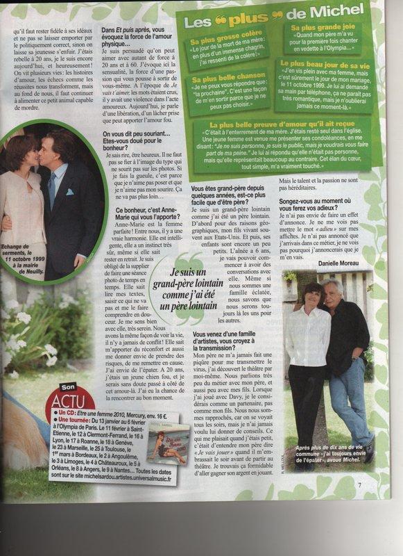 11 octobre 2010 - Article paru dans NOUS DEUX (2/2)