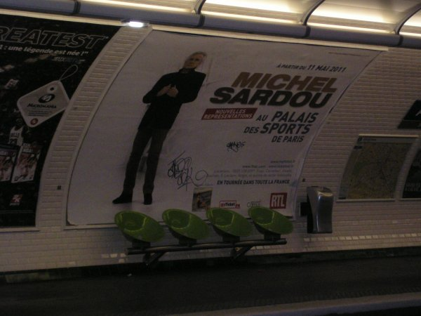 17 octobre 2010 - Et aussi sur les quais du métro...
