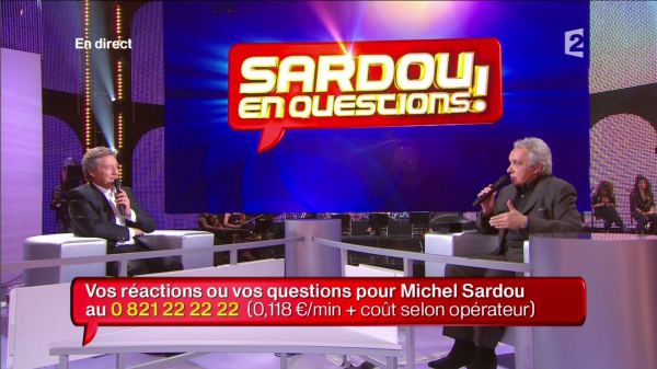 "23 octobre 2010 - Emission ""Sardou en questions"""