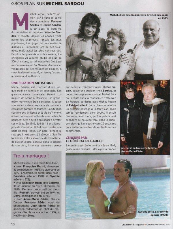 12 octobre 2010 - Article paru dans CELEBRITES (2/5)