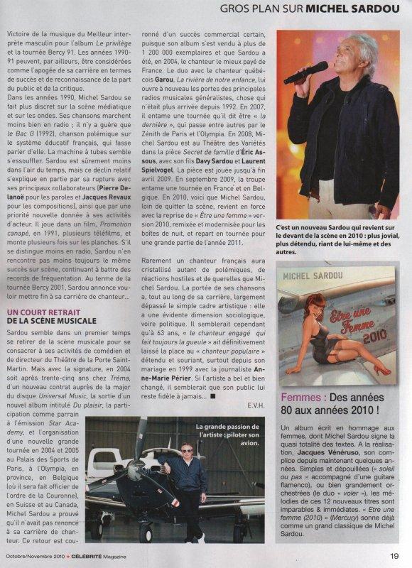12 octobre 2010 - Article paru dans CELEBRITES (5/5)