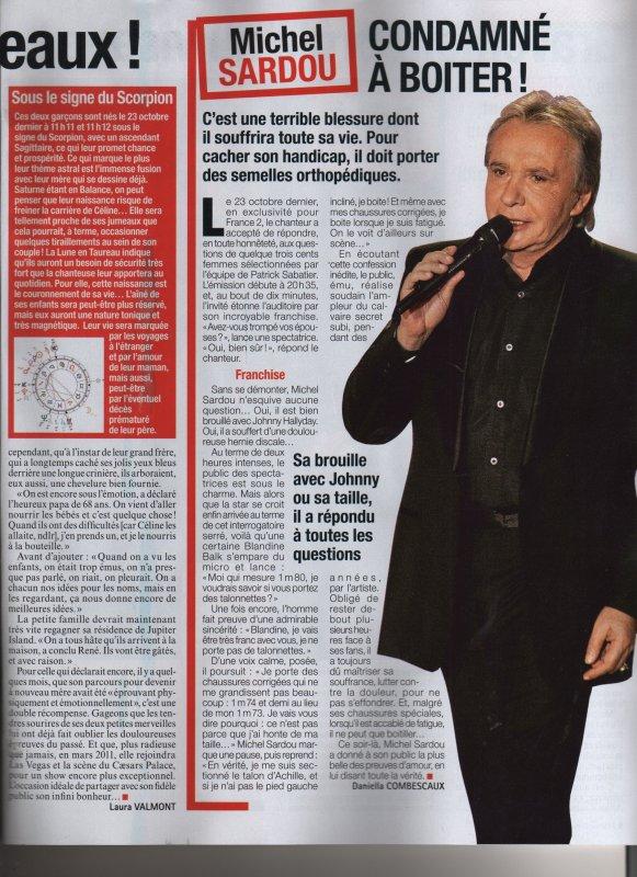 29 octobre 2010 - Article paru dans FRANCE DIMANCHE