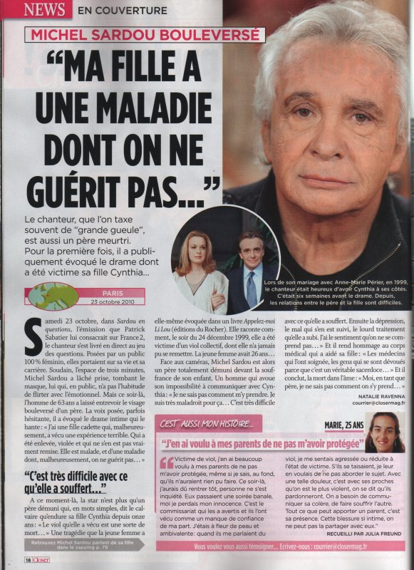 30 octobre 2010 - Article paru dans CLOSER
