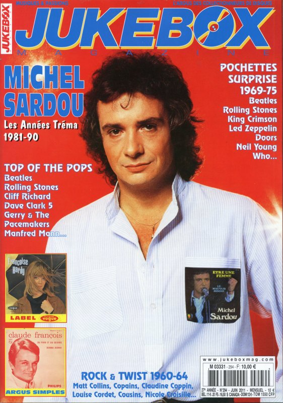Juin 2011 - Michel Sardou à la une de JUKEBOX MAGAZINE !